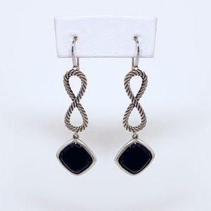 David Yurman Cable Eight Onyx Earrings